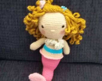 HOLIDAY 2017 SALE!! Mermaid Doll - Pink/Turquoise
