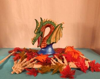 Ceramic Dragon Bust
