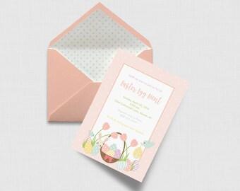 """Pastel Easter Egg Hunt 5"""" x 7"""" Invitation - Digital or Printed"""