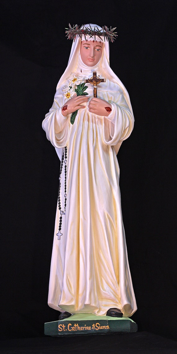 "St. Catherine of Siena 31"" Christian Catholic Plaster Religious Statue"