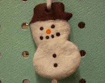 Snowman Christmas Tree Ornament, Handmade Christmas Tree Ornament