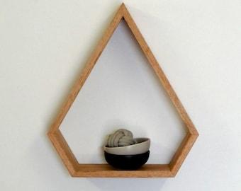 Gem Wooden Shelf // Geometric Shelf // Maple