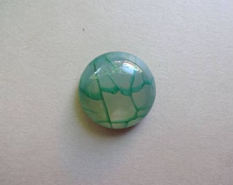 Green Dragon Vein - Agate - round cabochon 16x6 mm