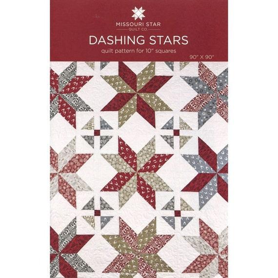 Msqc Dashing Stars Quilt Pattern Layer Cake Pattern By