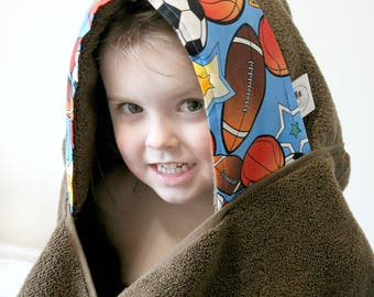 Boys Birthday Gift - Hooded Towel - Towel Hoodie - Boys Hooded Towel - Gift for Him - Summer Gift Idea - Toddler Hooded Towel - Boys Towel