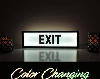 Exit Sign, Exit Light, Light Up Sign, Business Sign, Exit, Light Up Art, Exit Light Up Sign, Store Sign, Restaurant Sign, Shop Sign