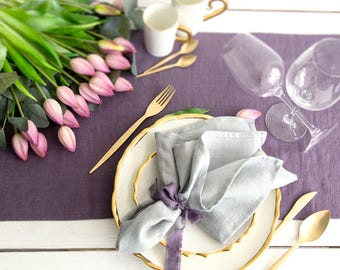 Softened Linen Napkins set of 12  perfect for every occasion or everyday dinning table