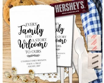 Family Reunion Favors - Family Reunion Treat Bags - Utensil Bags - Cookie Bags - Smores Bags - FR4cTB1