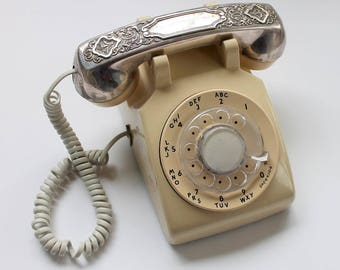 Western Electric Rotary Telephone with Silverplated Handset Cover