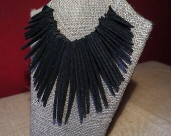 Triangular felt statement necklace