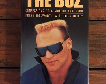 1988 The Boz by Brian Bozworth and Rick Reilly Hardcover Book with Dust Jacket/ Doubleday/ Like New Condition!