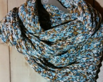 Hand Crocheted Infinity Scarf Neck Warmer