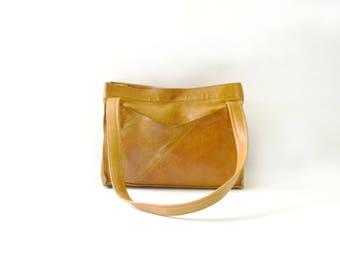 Vintage Caramel Leather Bag
