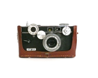 Vintage Argus 50mm Camera with Leather Case