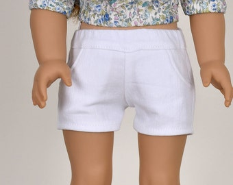 Shorts 18 inch doll clothes White
