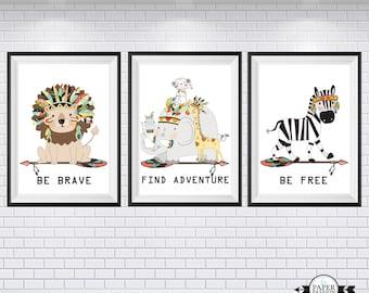 Nursery prints, Boys Nursery prints, Baby nursery prints, Bedroom Art Wall, Woodland Prints,