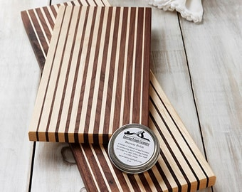 Cheese Board Set, Wedding Gift Set,Walnut and Maple Gradient Cutting Boards