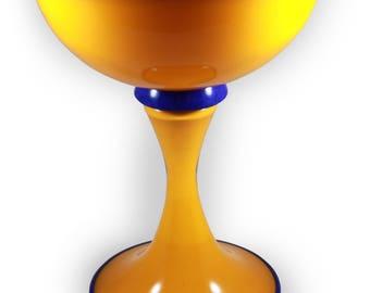 Hand Blown Yellow Vase