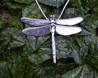 Sterling Silver Pendant: Dragonfly