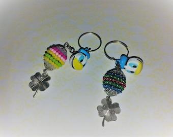 DONALD DUCK KEYCHAIN,Handmade Keychain,Disney,Bangle Keychain,Kids Keychain,Keychain for Girls Tweens Teens and Adults,Ladies Accessory Gift