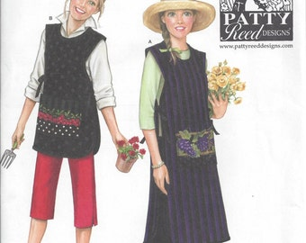 Simplicity 3818 Sewing Pattern to Make Aprons by Patty Reed, Sizes XS - XL, Uncut