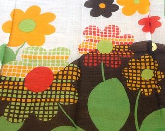 New and Unused Kreier of Switzerland - 100% Cotton - Stunning Vintage Handkerchief - From Vintage 1970/1980 Stock