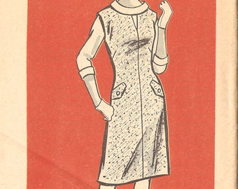 """Anne Adams 9122 Misses' 60's Jumper and Blouse with Rolled Collar - Size 16 Bust 36"""""""