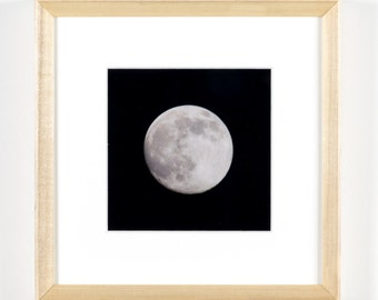 "Full Moon 5""x5"" Framed Art Photograph (8""x8"" with frame)"