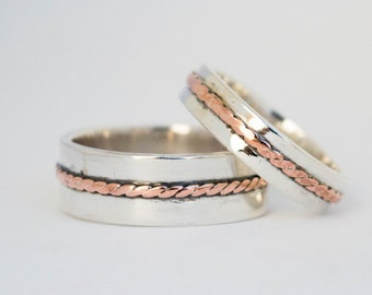 sterling silver rings wedding ring set personalized sterling silver rings wedding ring set - Wedding Rings Sets For His And Her