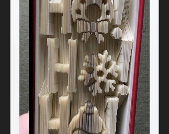 HoHoHo v2 - Folded Book Art Pattern - Combination Fold - Instant Download!