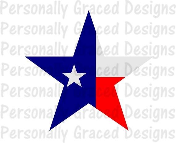 Svg Dxf Eps Cut File Texas Star Lonestar State Flag