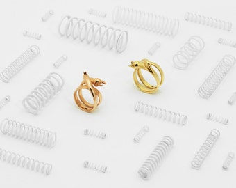 Stretch Rabbit Ring (Brass, Bronze 3D Printed Rabbit Ring)