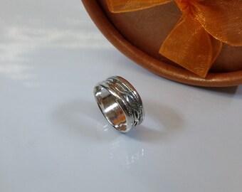 17.8 mm ring Silver 925 nostalgic vintage SR434
