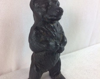 Vintage Cast Iron Bear Decorative Bear Figurine Cast Iron Bear Figurine Old Cast Iron Bear