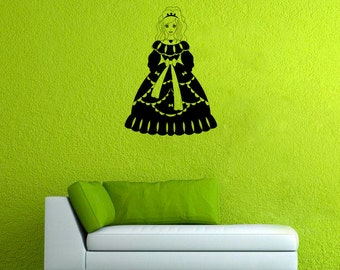 Princess Wall Sticker Queen Vinyl Decal Girls Room Decor (10pss)