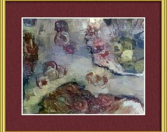 """Sonoma Colors - Six Different 8""""x10""""Digital Images of Original Abstract Acrylic Paintings on Canvas for Horizontal or Vertical Mounting"""