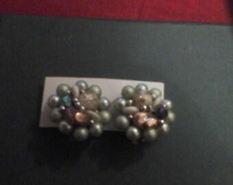 Bead  cluster earrings