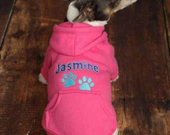 Personalized Dog Hoodie - Custom Pet Hoodie - Personalized Dog Sweatshirt - Puppy Clothing - Personalized Dog Clothes - Outdoor Dog Coat