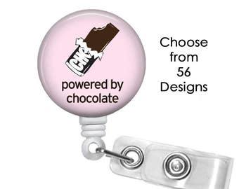 Chocolate Badge Reel, ID Badge Holder clip, Medical Badge Reel, Candy Badge Reel, Kiss Badge Reel,  Heart badge reel clip
