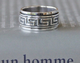 spinning ring Silver 925 STERLING high quality man