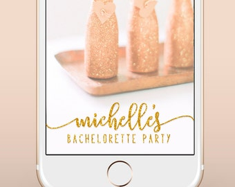Bachelorette Party Snapchat Filter, Custom Bachelorette Party Snapchat Geofilter, Gold Silver Custom Bachelorette Weekend Snapchat Filter