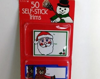 50 Vintage Self Stick Gift Tags by Cleo/Makes Your Vintage Gifts Complete This Season/New (C)