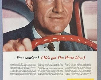 1957 Hertz Rent-a-Car Print Ad