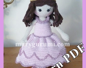 "Crochet Pattern, pattern, tutorial, Amigurumi doll, ""Princess"" Benedicta"