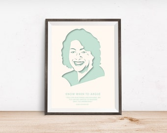 Sonia Sotomayor Quotes - Law School - Nevertheless She Persisted - Inspirational Quote - Cute Apartment Décor – Dorm Decorations – Poster