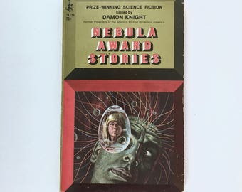 Science Fiction Paperback, Nebula Award Stories, First Printing 1967, Vintage Pocket Book Edition, Damon Knight, Editor
