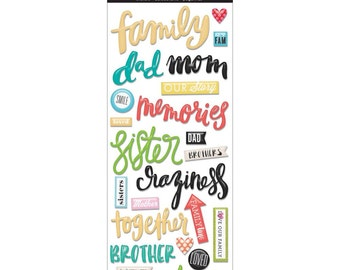 Family Stickers, mambiSTICKS Essential Stickers, Me & My Big Ideas Stickers