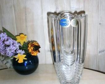 Vintage Vase of Bohemian crystal, Czech crystal work