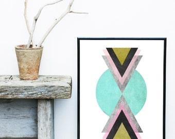 Abstract Art Print, Printable Art, Geometric Art Print, Scandinavian Art, Wall Decor, Wall Art, Digital Download