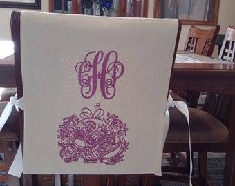 Monogram Easter-Spring Chair Cover/Bib